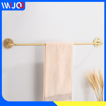 Single Towel Bar Brass Gold Towel Holder Rack Decorative Toilet Towel Rack Hanging Holder Wall Mounted Bathroom Accessories