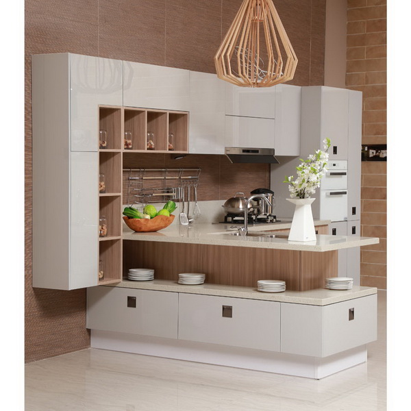 OPPEIN OP13 228 Gabinetes de Cocina Muebles de Fábrica de Alta ...