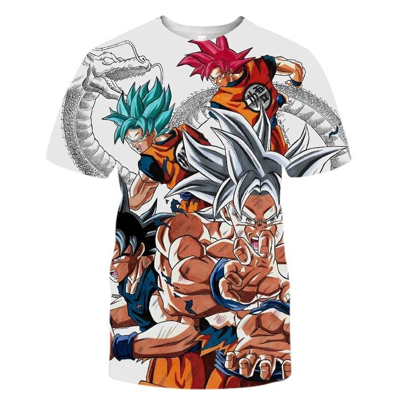 e8542f9ae0f1 New Dragon Ball Z Men s T-shirts 3D Print Super Saiyan Kid Son Goku Black
