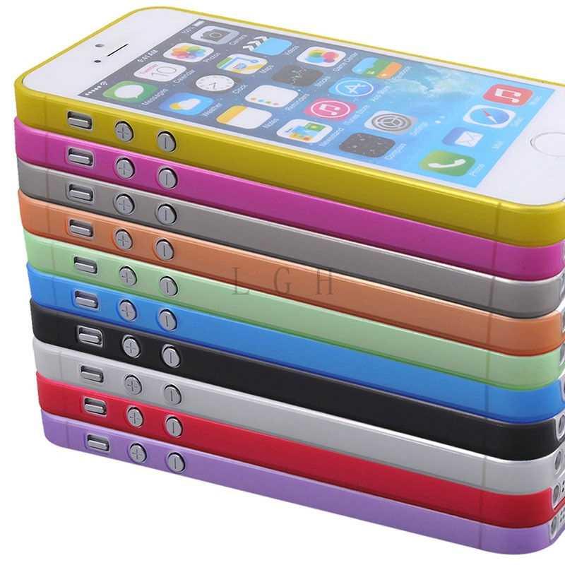 Ultra Sottile Trasparente Della Copertura per il iphone di Apple 5 5 S per il Caso di iphone 7 8 più di 5 s SE 5 4 4 S 5C 6 6 S 6 plus X Xs Max Xr Trasparente Borsette