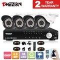 Tmezon 4ch ahd 4 unids 2.0mp 1080 p sistema de seguridad cctv día noche Cámara impermeable DEL IR Kit de Seguridad de Sistemas de Alarma En Casa 1 TB 2 TB