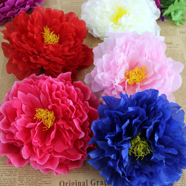 10pcs 17cm large artificial peony flower heads silk wedding flowers 10pcs 17cm large artificial peony flower heads silk wedding flowers for diy hair corsage bridal bouquet mightylinksfo
