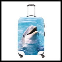Waterproof Luggage Protective Cover Animal Print Travel Luggage Cover Panda Suitcase Protective Cover Apply to 18-30Inch Case