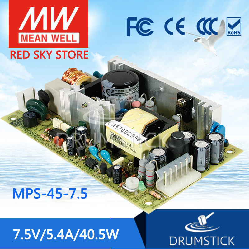 цена на Selling Hot MEAN WELL MPS-45-7.5 7.5V 5.4A meanwell MPS-45 7.5V 40.5W Single Output Medical Type