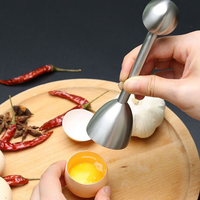 Stainless Steel Egg Topper with Handle