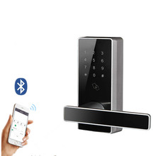Digital Keypad Password RFID Cards Smart Keyless Door Lock with Bluetooth for Office Home rfid keypad access control 125khz smart card reader with 10 keychains classical password door lock for 500 user cards kd2000