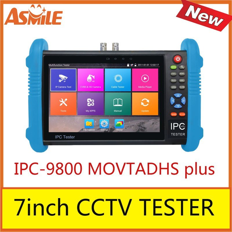 2017 new hot sale 7inch cctv tester for IPC-9800 MOVTADHS plus 2017 new hot sale 7inch cctv tester for ipc 9800 movtadhs plus