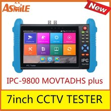 2017 new hot sale 7inch cctv tester for IPC-9800 MOVTADHS plus