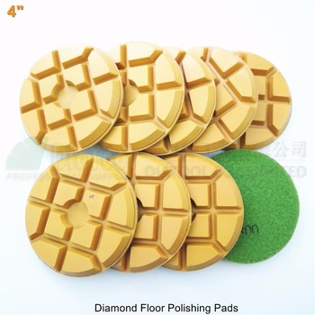 "SHDIATOOL 9pcs 100mm #800 diamond floor sanding disc SA622 4"" Resin bond diamond floor renew polishing pads"