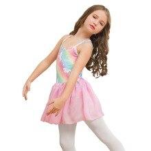 Girl Rainbow Unicorn Sleeveless Girls Dress for Dance Ballet Costumes Kids Ballerina Bodysuit Dancewear Childrens Clothing