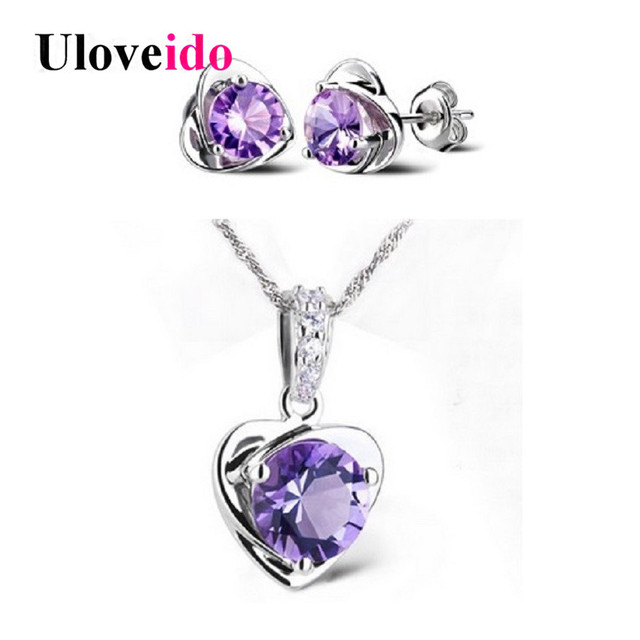 Womens Crystal Necklace Jewelry Set Costume Wedding Jewelry Sets
