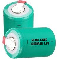 Низкая цена 500 шт. 4/5SC батарея 1,2 В батареи перезаряжаемые 1200 мАч nicd для механические инструменты akkumulator