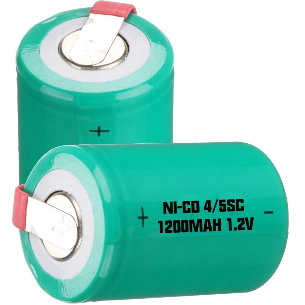 Prix le plus bas 500 pièce 4/5SC batterie 1.2 v batteries rechargeables 1200 mAh nicd batterie pour outils électriques akkumulator