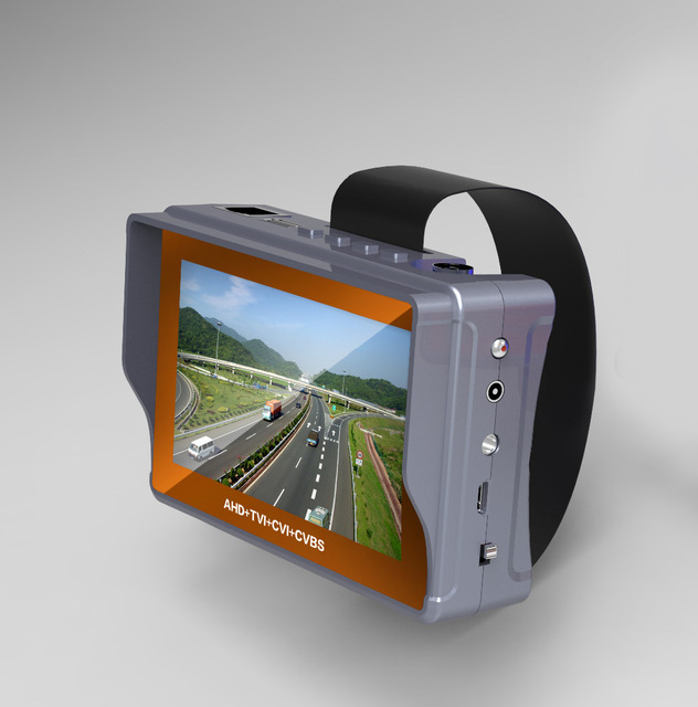 4.3 Inch 4 In 1 HD CCTV Tester Monitor AHD CVI TVI CVBS Analog Cameras Tester 5MP 4MP 1080P  720P UTP Audio 12V