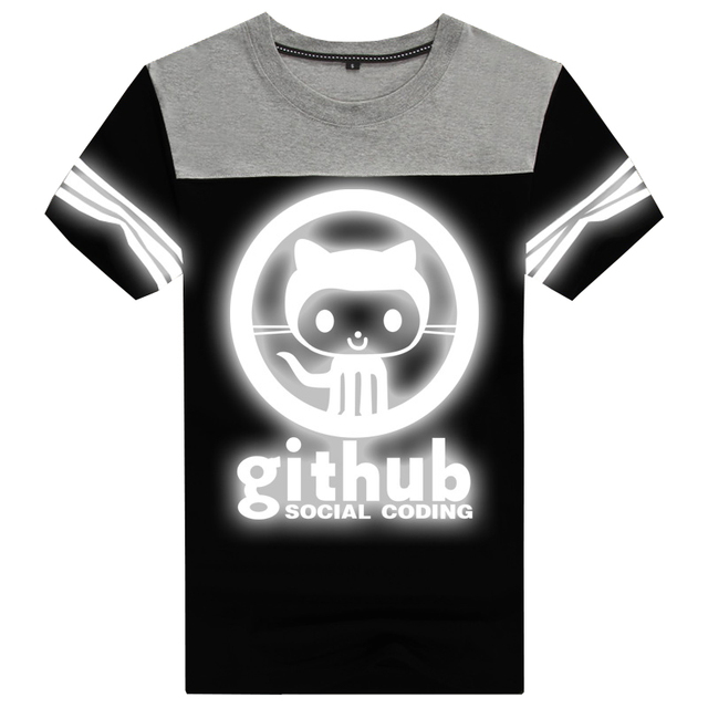 US $23 99 20% OFF|GEEK Linux Programmer Github Social Coding Geek Mens  Fashion T shirts O neck Cotton -in T-Shirts from Men's Clothing on