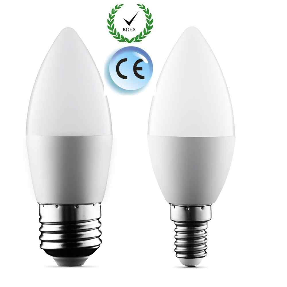 LED candle lamp 2W 5W 9W E14 E27 LED bulbs SMD 2835 85-265V Warm white/white for chandelier Led Spotlight for Home led lighting