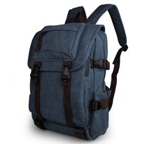 Free Shipping Durable Casual Canvas Laptop Backpack Blue Color Shoulders Bag # 9023K durable casual canvas laptop backpack blue color shoulders bag 9023k