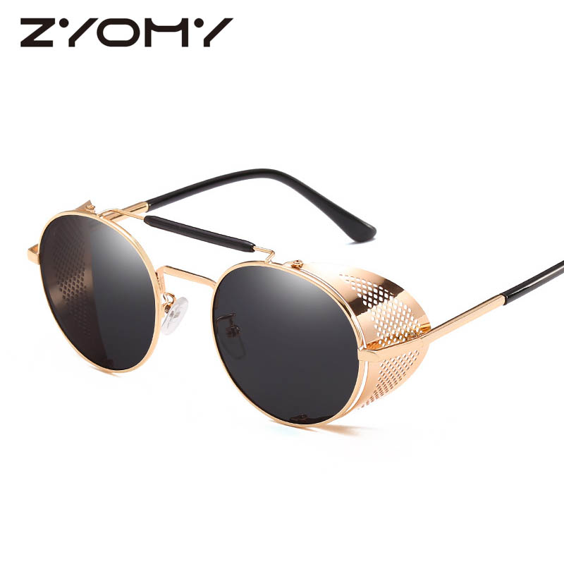 Classic Retro Glasses Toad Lens Steampunk Men Women Sunglasses Vintage Colorful Film Driving Eyewear Unique Oculos De Sol Gafas
