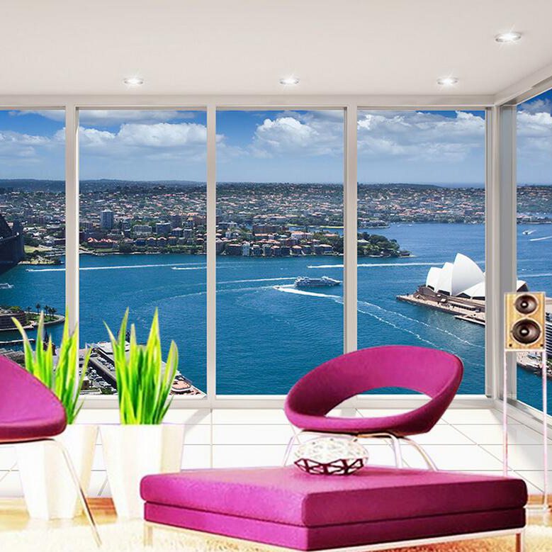 study background tv silk bed living 3d custom wall mural covering sydney