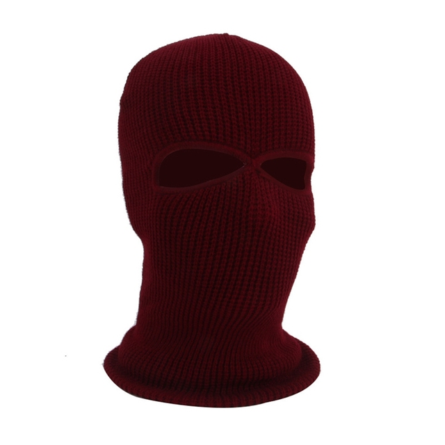 2/3 Hole Full Face Cap Outdoor Balaclava Riding Motorcycle Mask Knitting Face Mask Ski Mountaineering Head Cover 5