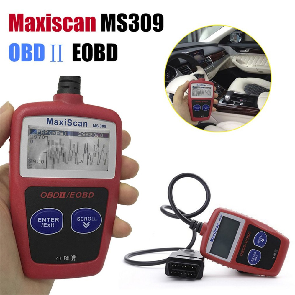 MS309 OBD2 Auto Car Diagnostic Tool Code Scanner Reader Engine Fault Code Reader Professional Car Diagnostic Detector