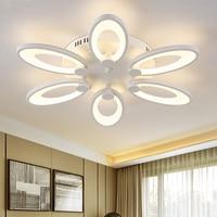 Modern Iron Acrylic Flower Creative Led Room Hanging Light Ceiling Lamp House Lighting Fixture 100V 230V For Teens Girls Bedroom