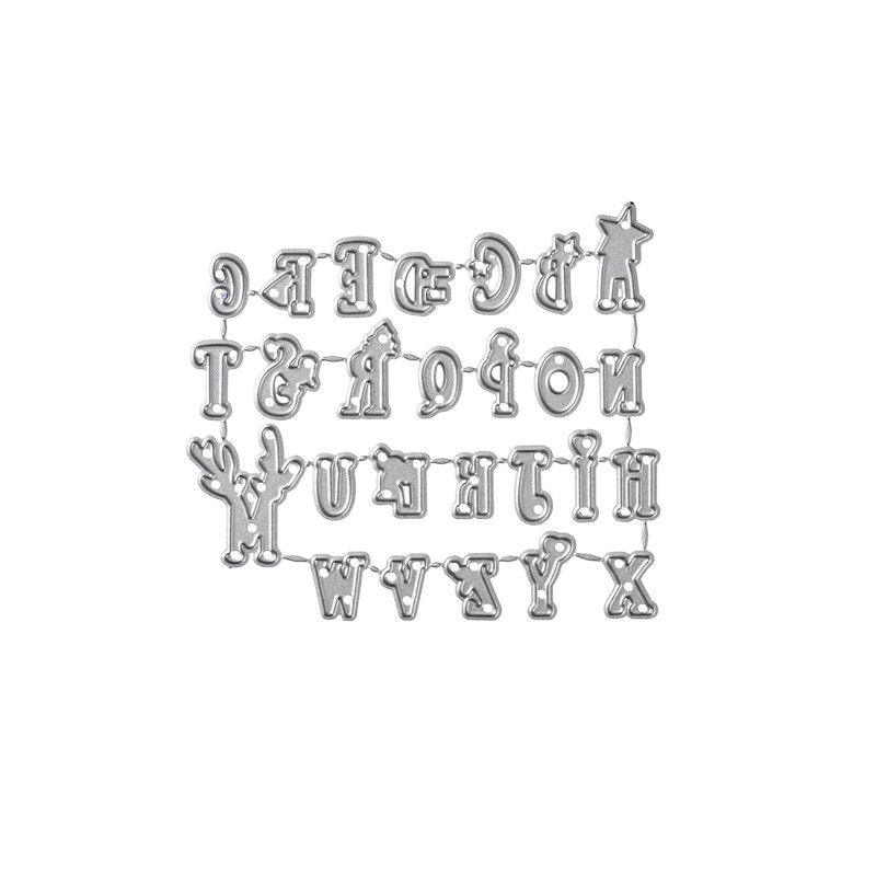 Naifumodo Alphabet Metal Cutting Dies New Letter Dies Scrapbooking for Craft Dies Album Embossing Stencil Die Cut Decoration