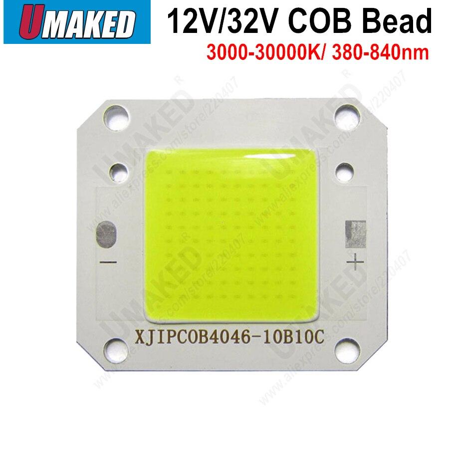 Haute Puissance LED Puce COB Lumières DC12V DC32V Perles de Lumière Blanc Chaud Blanc Froid Blanc Plein Spectre 3000 k- 30000 k