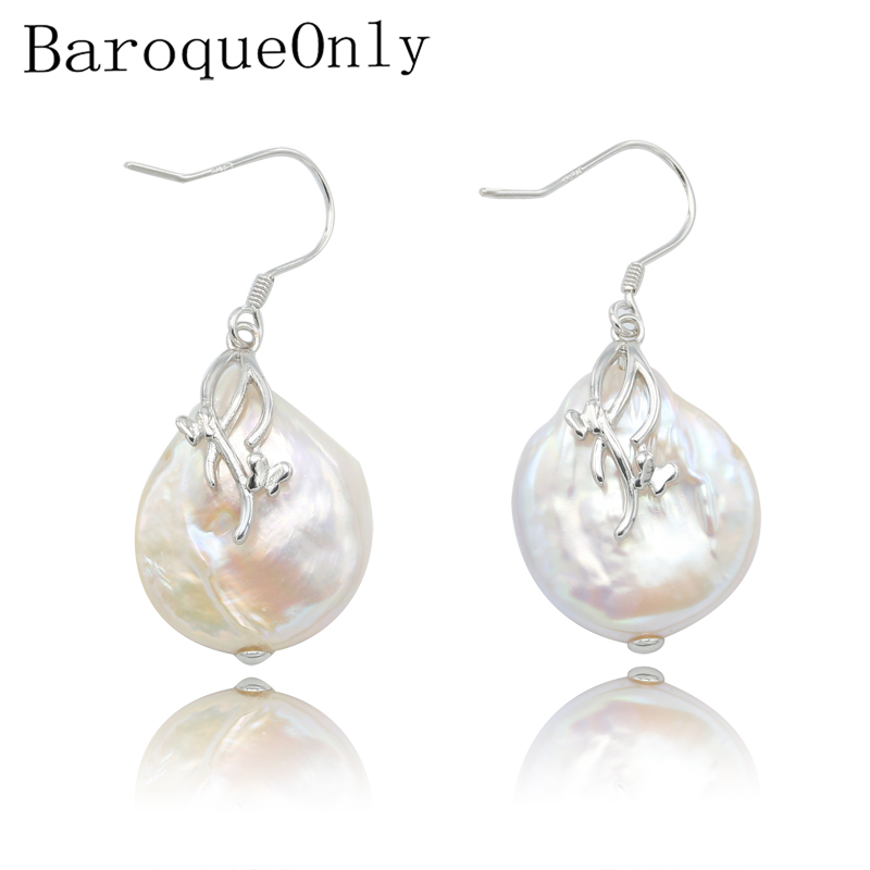 BaroqueOnly baroque natural freshwater pearl pendant necklace AAA Zircon Jewelry 17-19mm 925 silver sterling 2018 new arrivalBaroqueOnly baroque natural freshwater pearl pendant necklace AAA Zircon Jewelry 17-19mm 925 silver sterling 2018 new arrival
