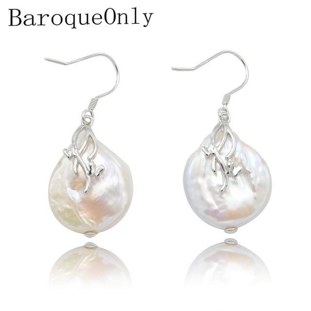 BaroqueOnly baroque tự nhiên nước ngọt ngọc trai mặt dây chuyền vòng cổ AAA Zircon Đồ Trang Sức 17-19 mét 925 bạc sterling silver 2018 new arrival