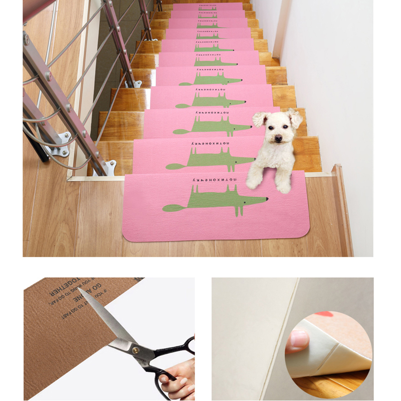 1PC Staircase Decorations Stairs Mats Carpet Stair Treads Anti-Slip Stair Pad/Carpet Mat Floor Mats For Stairs For Kids For Dog