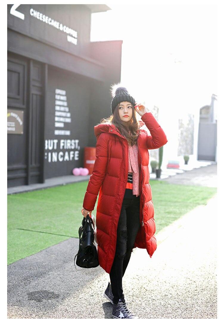 Solide Vers Bas Capuchon Qualité De Longues Mode Femmes Chaudes Nouvelles xl 2017 black Couleur Date Le Mince Wyt160 Hiver Haute Veste Red À S xqXt0fpfw