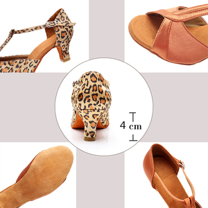 Image 4 - Alharbi Hot Sale Women Girls Ballroom Dance Shoes For Latin American Dances Salsa Sandals Tango Shoes 5/7cm Heels Dancing Shoes