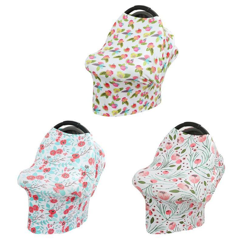 Nursing Breastfeeding Cover Baby Infant Breathable Floral Print Nursing Cloth Big Size Nursing Cover Feeding Cover Feeding Towel