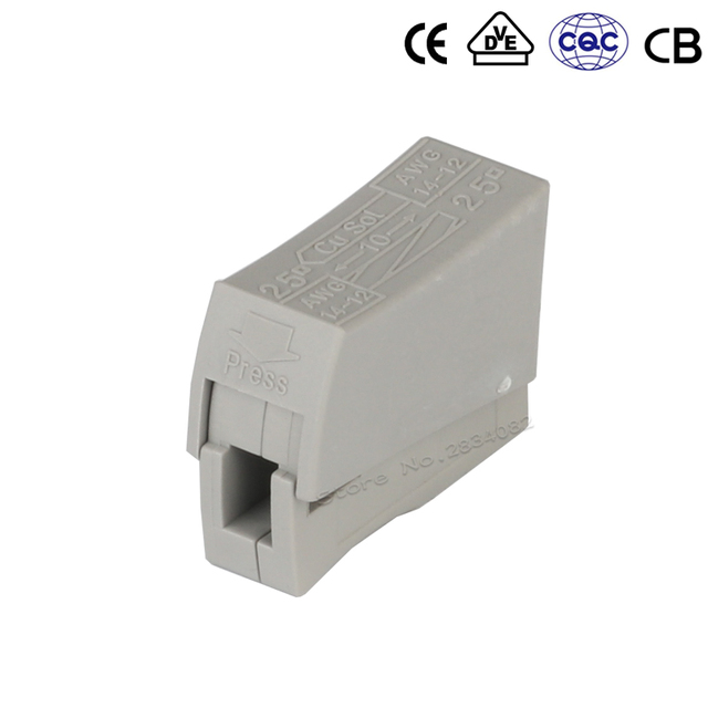 10pcs/lot Universal compact wiring lighting lamp Connector terminal block conductor quick hard soft wire connector