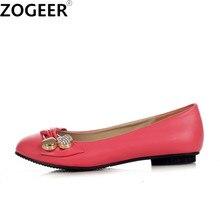 Chaussures plates grande taille 47 pour femme, chaussures de Ballet tendance, rose, vert, grande taille 48, printemps automne, collection chaussures décontractées