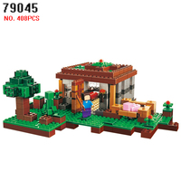 AIBOULLY 79045 408pcs My World First Date Night Lele Building Block Compatible 21115 Brick toys for children