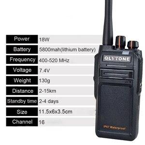 Image 4 - Wasserdicht Walkie Talkie 18 W High Power Professionelle Portable Radio Station LYT 980 400 520 MHz Transceiver