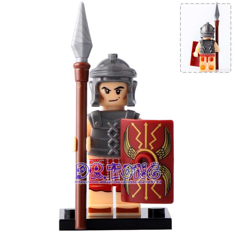 DR.TONG 20PCS/LOT Medieval Knights XH648 Heavy Infantry Roman Soldiers Super Hero Building Blocks Bricks Toys Child Gifts X0164 1 leader 16pcs lot medieval knights xh645 crusader rome commander super hero building blocks toys children gifts x0164