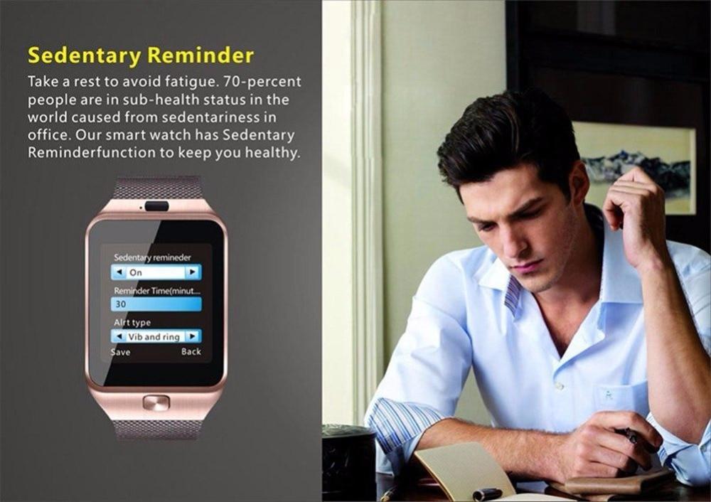 2018 TOP Bluetooth Inteligentne zegarki DZ09 Smartwatch dla Androida - Męskie zegarki - Zdjęcie 3