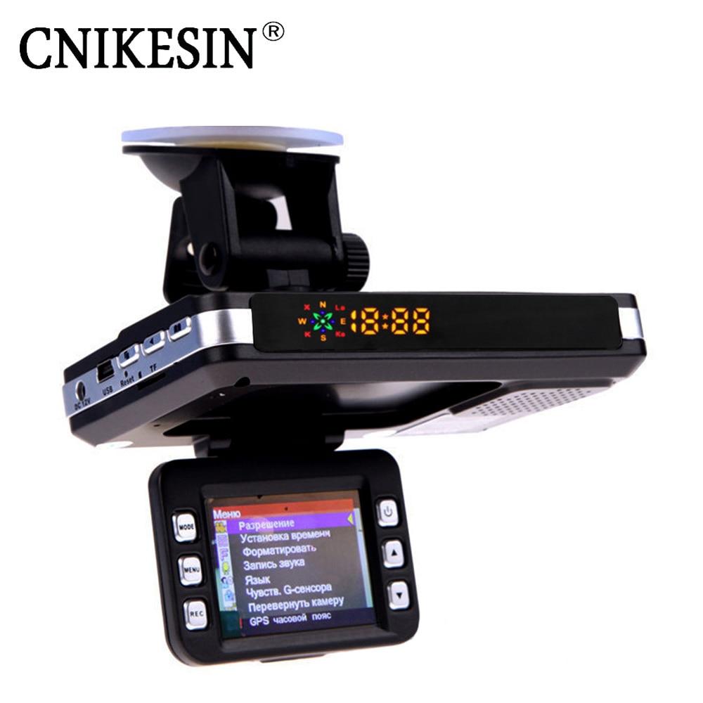 CNIKESIN 3 in 1 Car DVR Camera GPS Radar Detector Warning Video Recorder Loop Recording Dash Camera Driving Recorder 2 4 car dvr camera 3 in1 russian radar detector dvr video camera recorder tachograph traffic warning device gps tracker