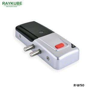 Image 3 - RAYKUBE New Wireless Electric Door Lock Mortise Lock Remote Control Open Door Bolt Lock