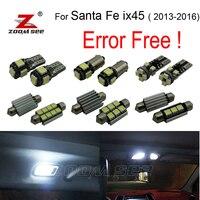 10pc X Nice Quality Xenon White LED Interior Light Kit Package For Hyundai Santafe Santa Fe