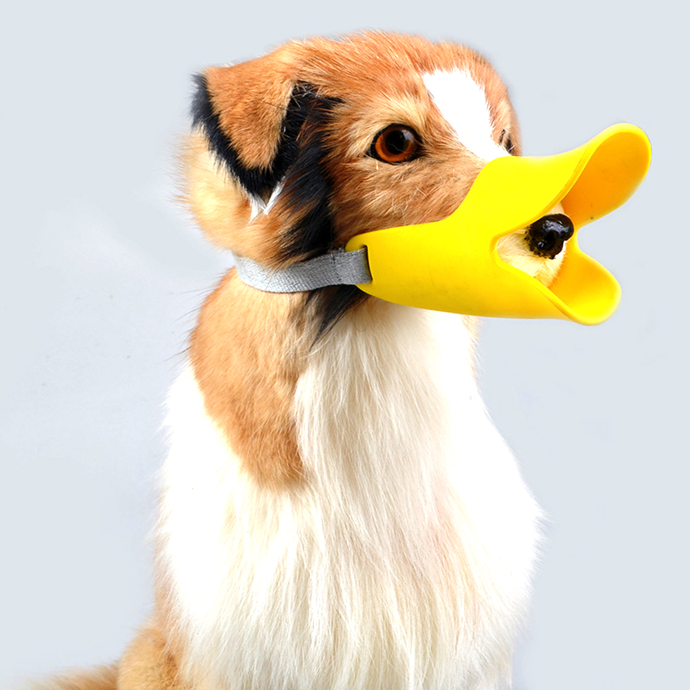 5 color silicone cute Pet dog duck mouth and nose cover pet anti-bite mask supplies