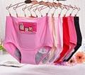 3 пара/лот Менструального Трусики Женщины Менструации Underwear Краткое Бамбуковое Волокно Герметичные Underwear
