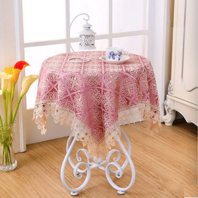 Table Cloth Cover Square Rectangle Lace Tablecloth Red Green Customized  60x60 80x80 100x150 120x120 140x140 130x180