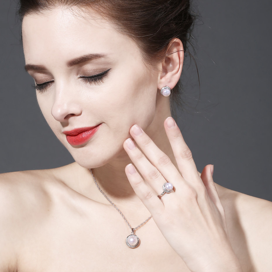 FENNEY 100% naturlig perle øreringe, perle med 925 sterling - Smykker - Foto 6