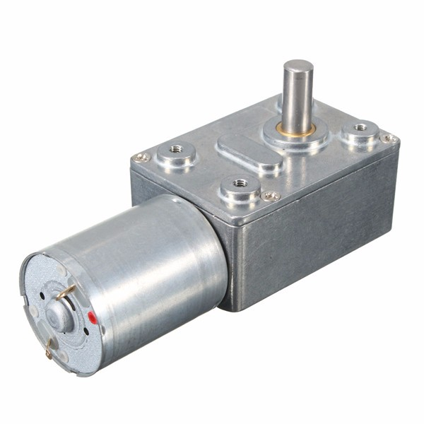 Reversible High Torque 12V DC 200RPM Worm Geared Motor Gear Reducer Turbo Motor Suitable For Window zndiy bry 200rpm 200ma 40mm 12v dc replacement torque gear box motor silver