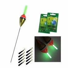 10 Pcs/Lot 6g Luminous Fishing Floats + 10 Pcs Fishing Glow Sticks Night Lighting Paulownia Wood Fishing Float Light Stick Sets