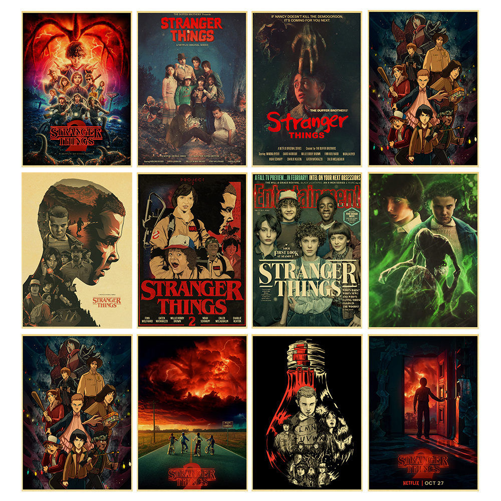 Classic Movie Stranger Things 2 Wall Poster Retro Vintage Kraft Decorative Wall Sticker Home Posters Decoration